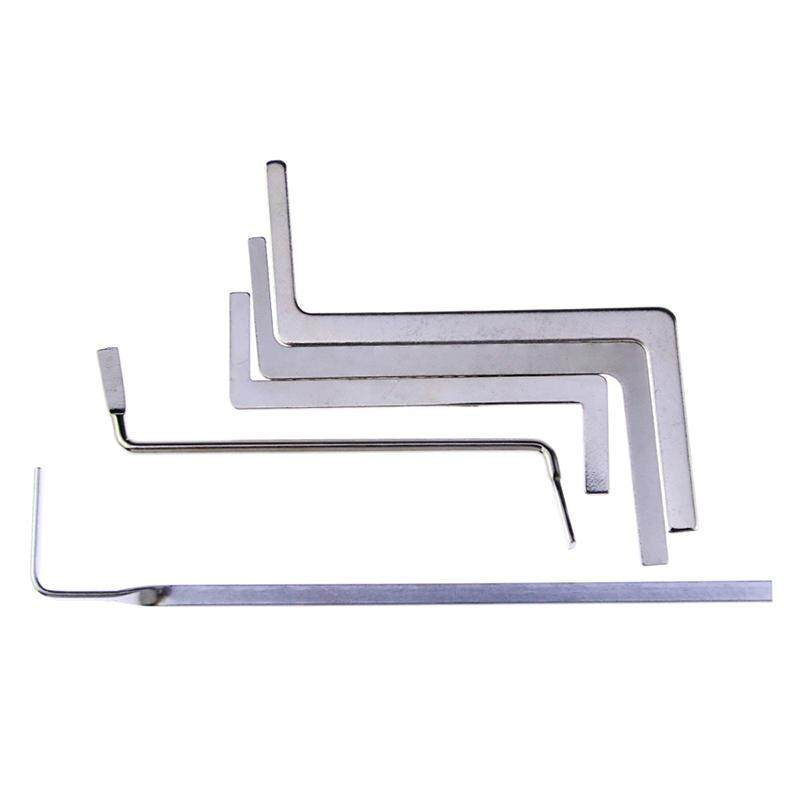 5Pcs Locksmith Tools Stainless Steel Double Row Tension Wrench Tool Removal Hooks Lock Extractor Set Furniture Hardware