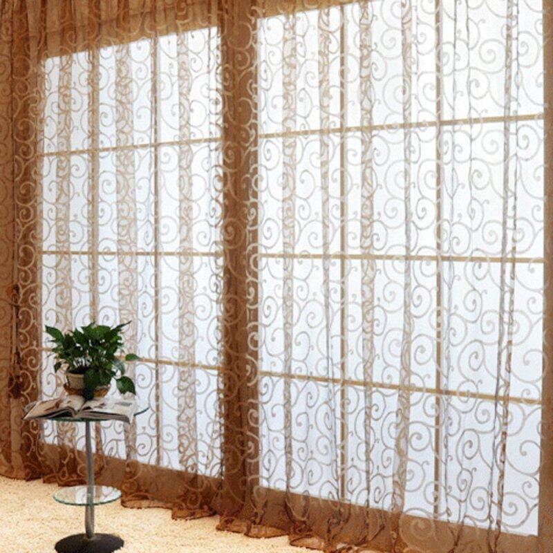 Rèm Cửa Sổ Vải Tuyn Sợi, Rèm Voan Cửa Sổ Cho Phòng Khách Nhà Bếp