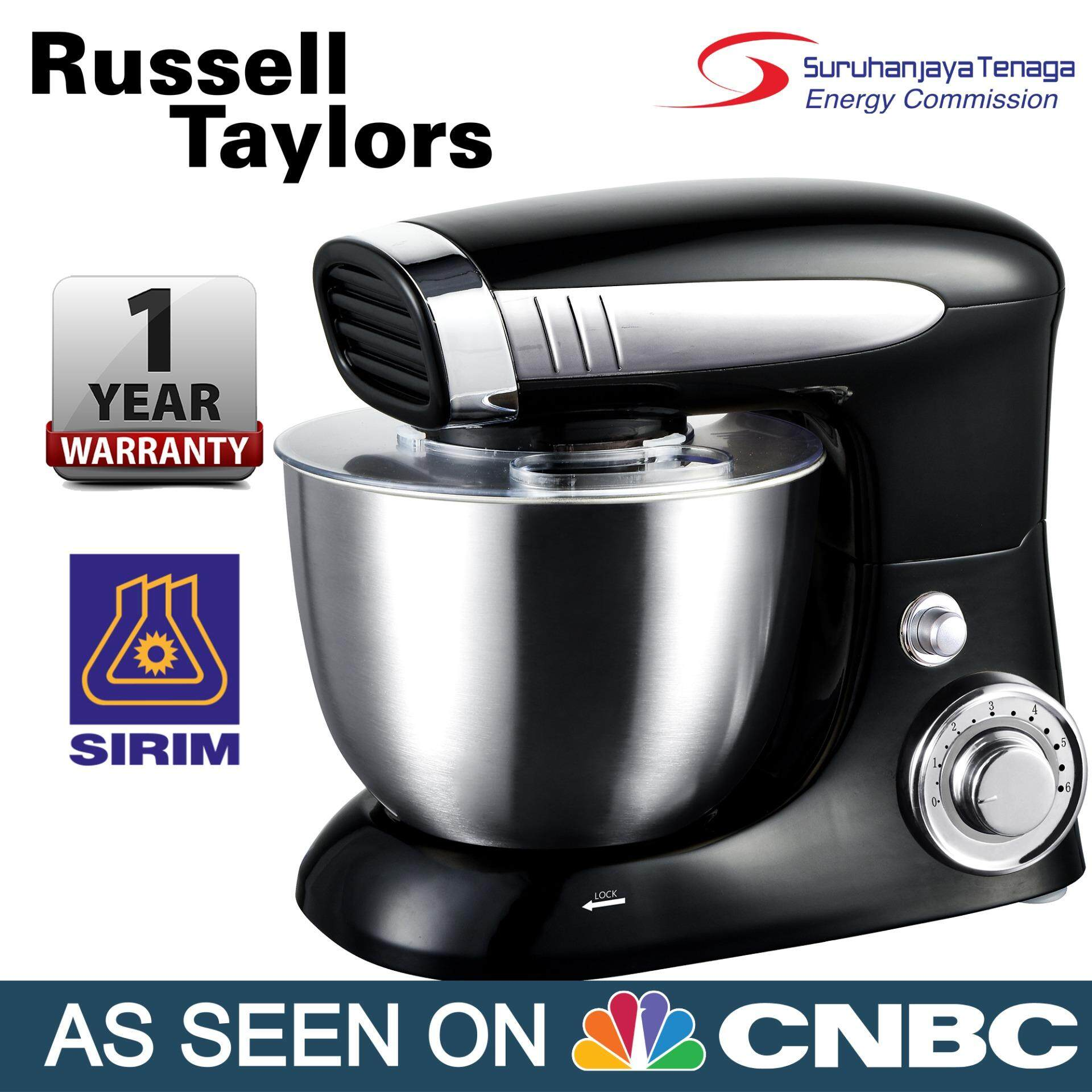 Russell Taylors 500w 4l Stand Mixer Sm-500 Cake Kitchen Blender By Russell Taylors.