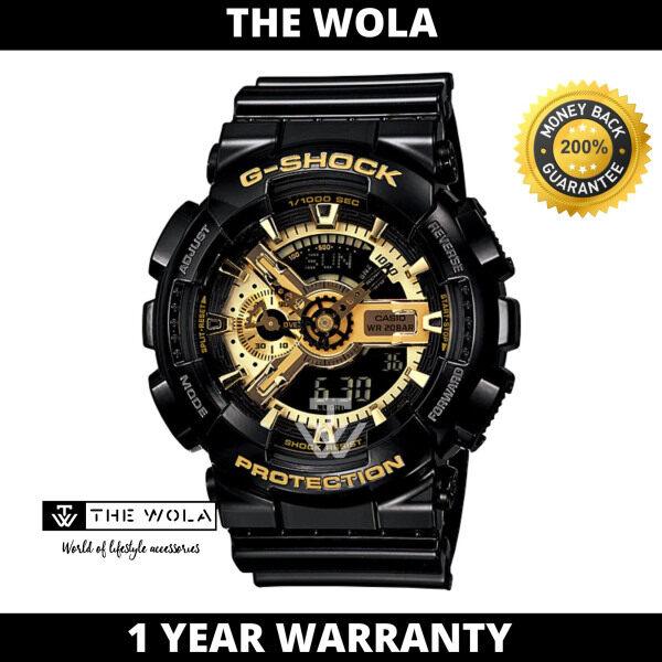 Casio G-Shock Mens Analog-Digital GA-110GB-1ADR Black & Gold Series Resin Band Sport Watch Malaysia