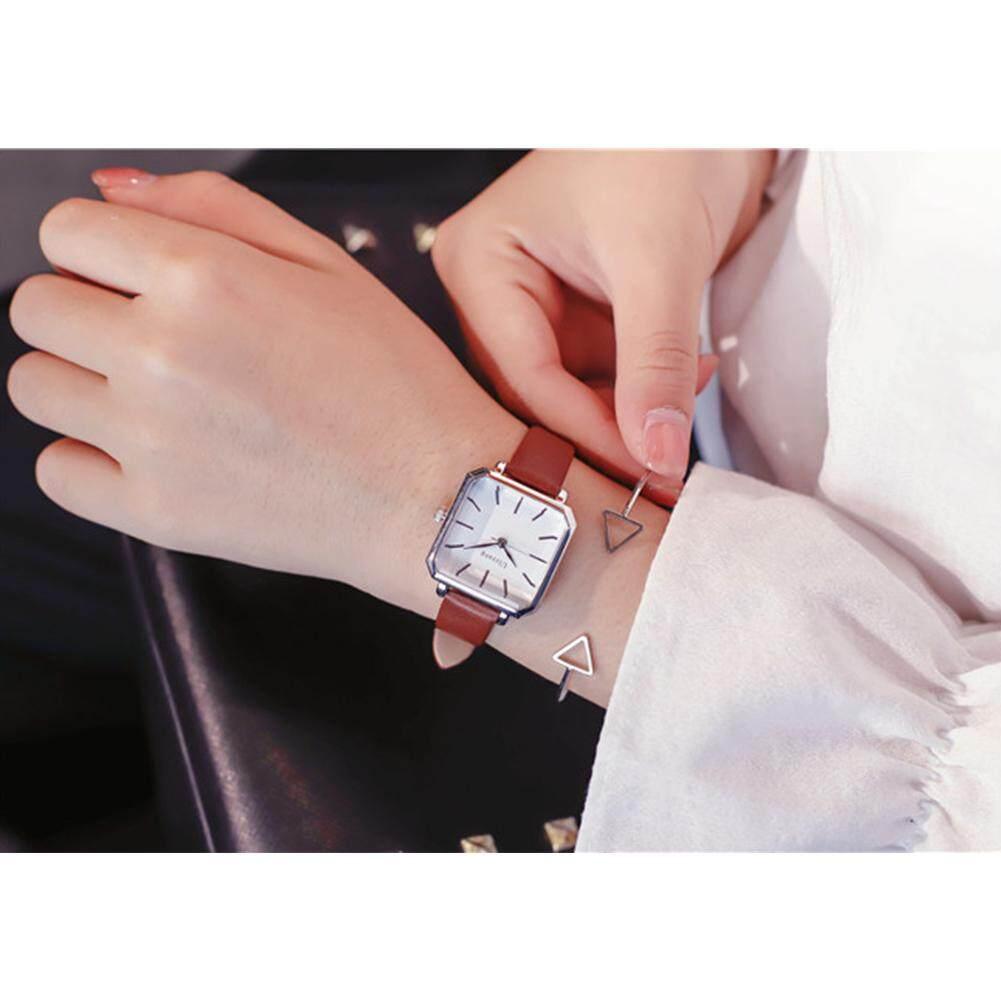 Nơi bán Phiên bản Hàn Quốc của Đồng hồ nữ đơn giản phong cách thời trang retro vuông đồng hồ thạch anh