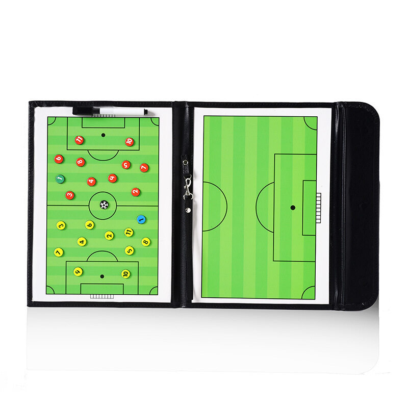 Football tactics board 2.5 fold coach board leather teaching board color folding type magnetic drill command board