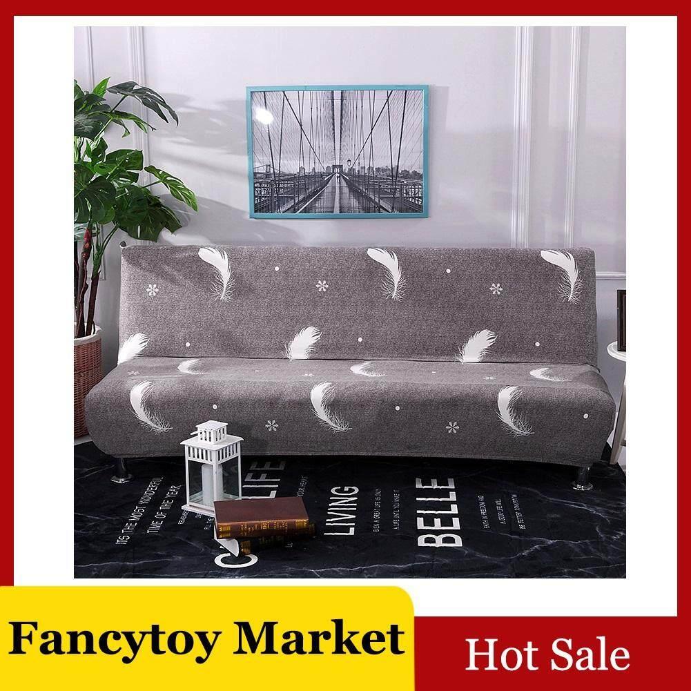 Fancytoy Tanpa Sandaran Lengan Penutup Sofa Meregang All-Inclusive Sofa Lipat Selimut Tebal Universal Perlindungan Menyeluruh Sarung Sofa untuk (Satu Seater)