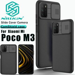 Nillkin CamShield Ốp Bảo Vệ Camera Cho Xiaomi Poco M3, Ốp Điện Thoại Tráng Gương Trượt Màu Đen Bằng Nhựa PC thumbnail