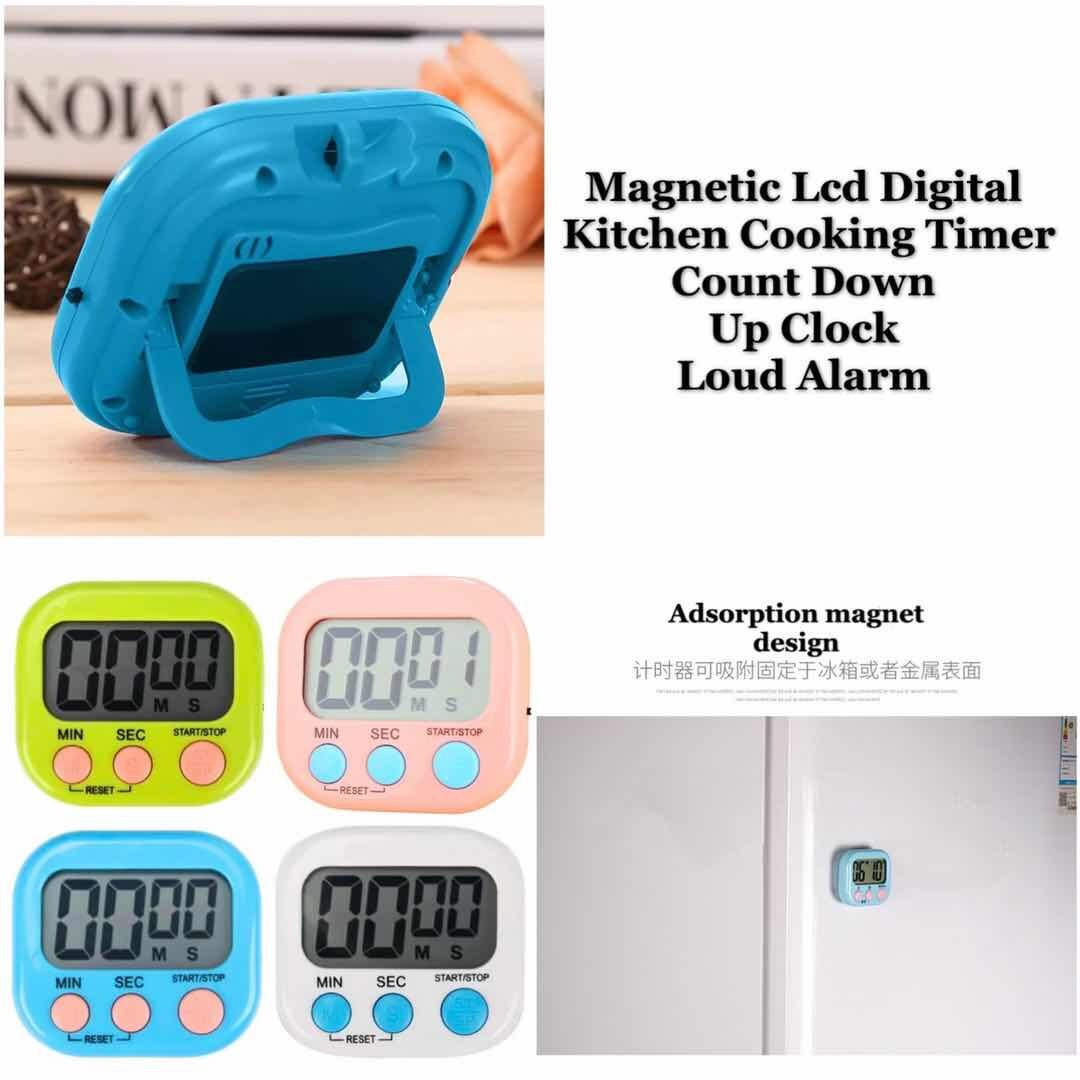 7 Day Programmable Digital Kitchen Cooking Timer Count Down Up Clock Loud Alarm