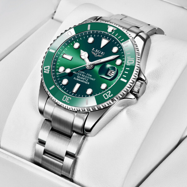 Nơi bán LIGE 2020 Đồng hồ đeo tay chính hãng cho nam, đồng hồ thạch anh dây thép không gỉ chống thấm nước thời trang