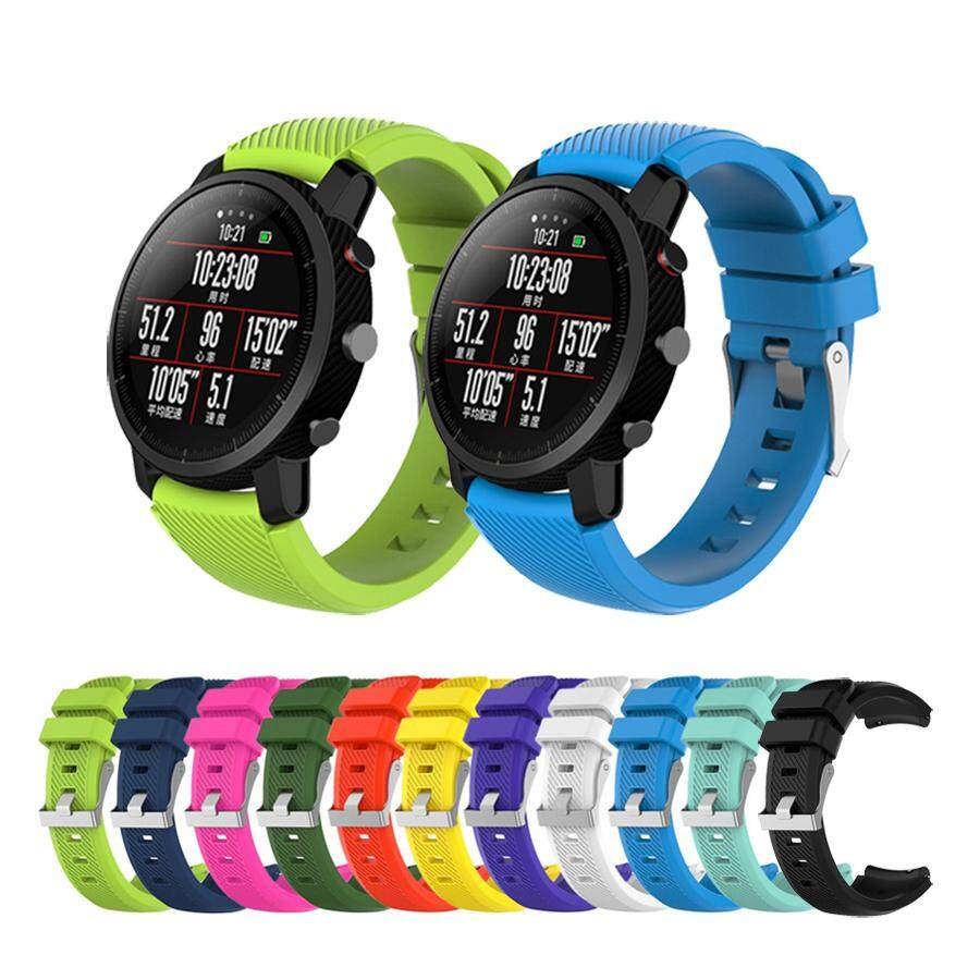 Silicone Strap 22mm For Xiaomi Huami Amazfit Pace Stratos 2 Band Replace Wrist Bracelet Straps For Samsung Gear S3 Classic Band,11 Colors By Hseon