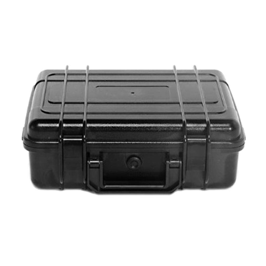 Miracle Shining ABS Waterproof Multipurpose Toolbox Industrial Organizer Storage Box Black