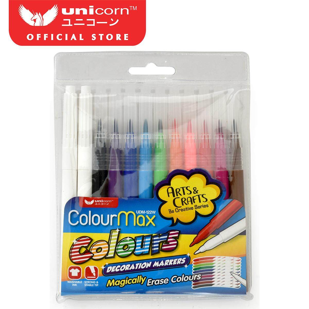 Unicorn Decorative Marker UDM-122W-12'S Asst (12 Pcs)