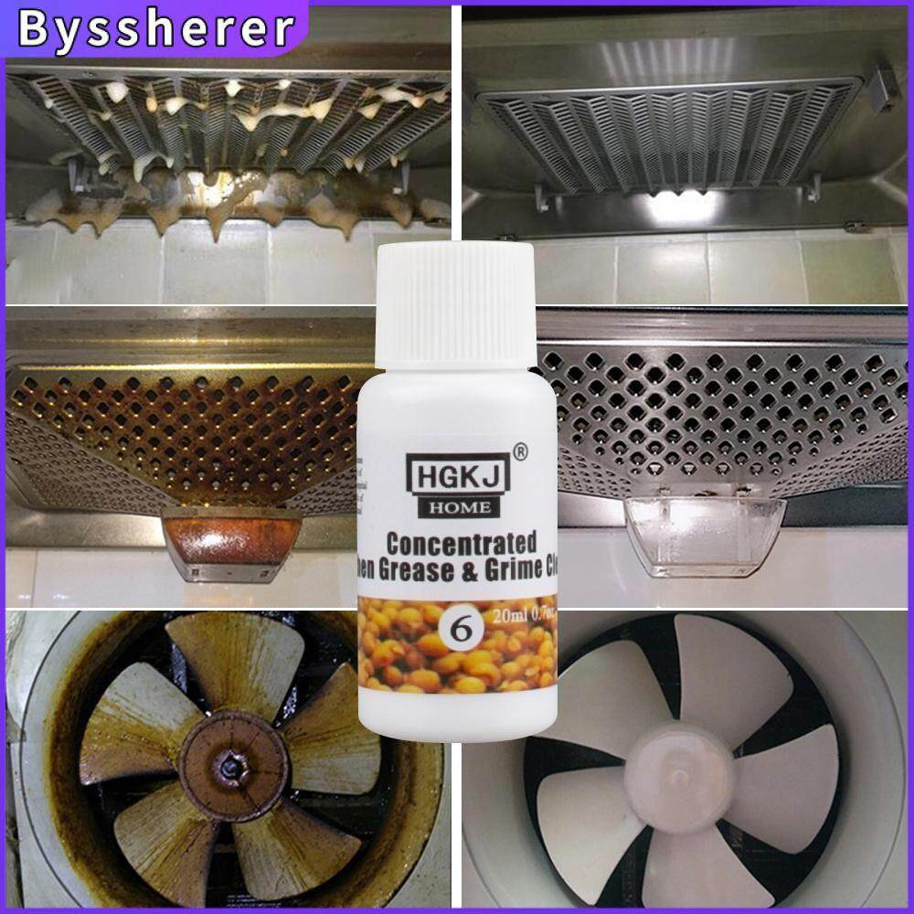 Byssherer HGKJ-HOME-6 20ml Strong Kitchen Oil Dirt Cleaner Detergent Concentrate Oil Removal Grease Pump Stove Fan