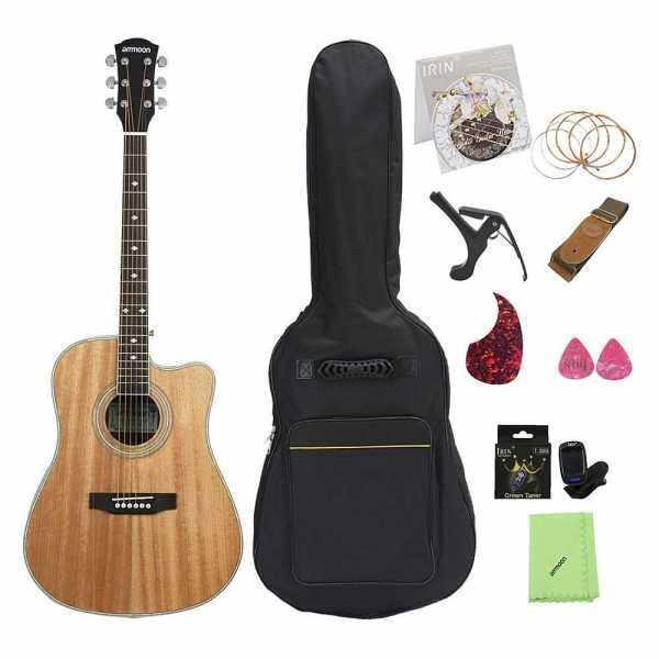 ammoon 41  Cutaway Acoustic Folk Guitar () Malaysia