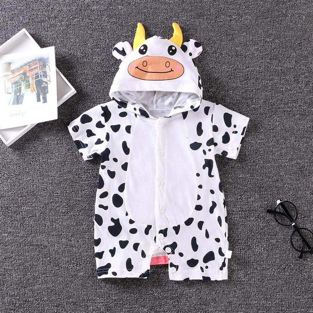 fa1777ab1bf1 Newborn Baby Boy Girls Cartoon Hoodie Infant Rompers Jumpsuit Outfits  Clothes