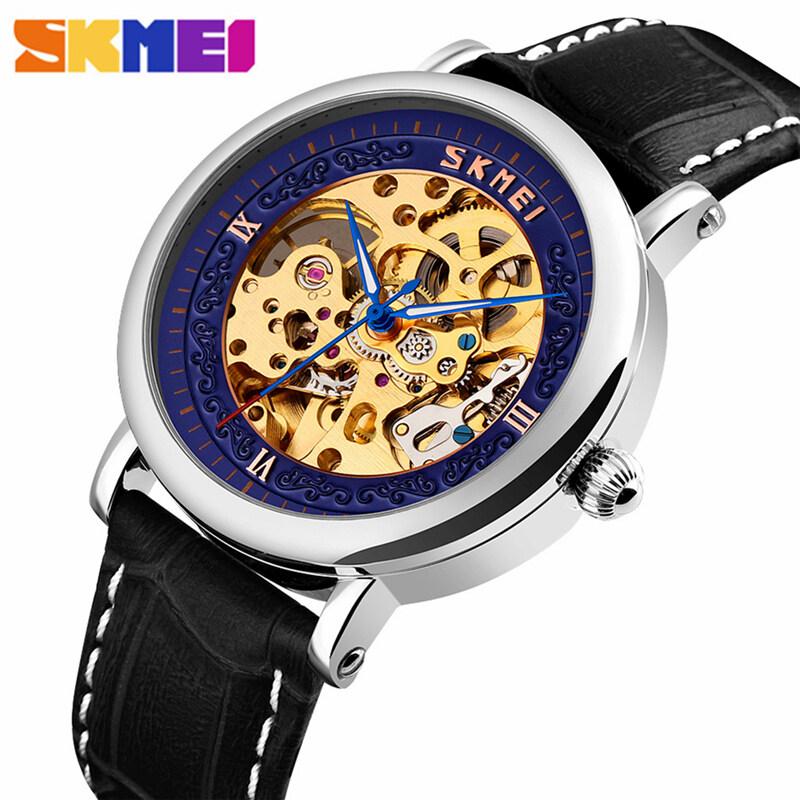 SKMEI Watches Men's Top Brand Luxury Watches Mens 30M Waterproof Clock Fashion Leather Strap Automatic Watch Creative Wrist Watch