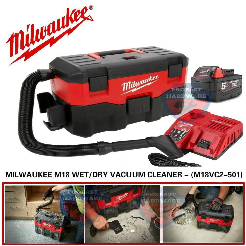 MILWAUKEE M18 WET/DRY VACUUM CLEANER - (M18VC2-501)