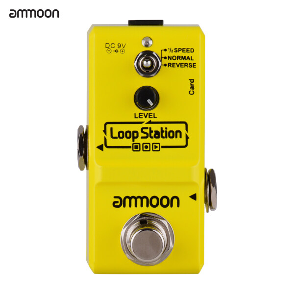 ammoon Loop Station Mini Guitar Looper Effect Pedal 10 Minutes Recording Time 3 Working Modes True Bypass Full Metal Shell with 1GB Memory Card Malaysia