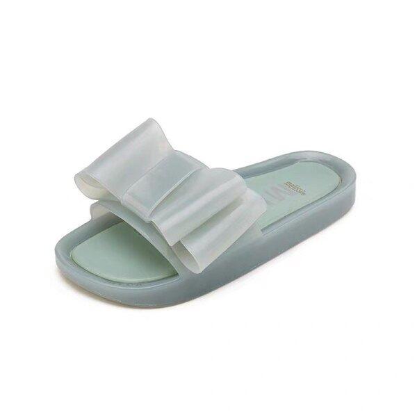 Giá bán Giày Thạch Nữ Melissa 2020 Dép Đế Bằng Dễ Thương Giày Trượt Nơ Nữ Giày Nữ Mềm Nữ Dép Đi Biển Giản Dị Mới Mùa Hè Nóng