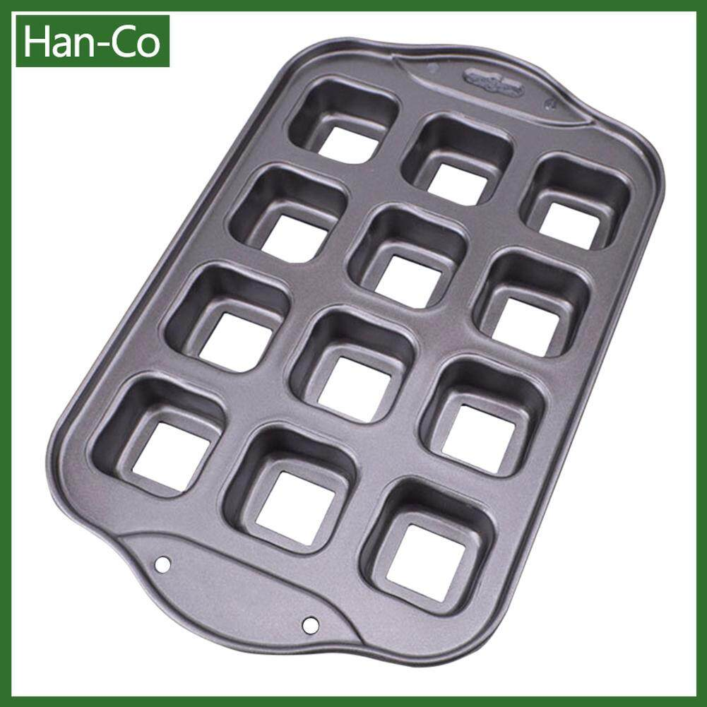 [Any 2 Items Discout 5%][Free Shipping]12 Cavities Square Brownie Cake Mold Non-Stick Petite-Brownie Pan 12 Cavity Non-Stick Bakeware Bar Baking Pan, Ideal for Brownies, Cakes and Bar-Cookies Baking tray Pan muffin Mold