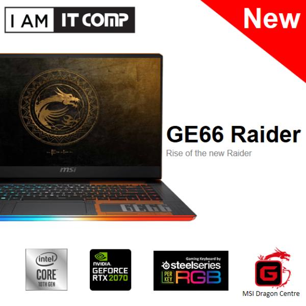 MSI GE66 RAIDER 10SFS-496 15.6 FHD 240Hz Laptop ( i9-10980H, 32GB RAM, 1TB SSD, RTX2070, W10 ) FOC MSI GAMING MOUSE, MSI MOUSE PAD Malaysia