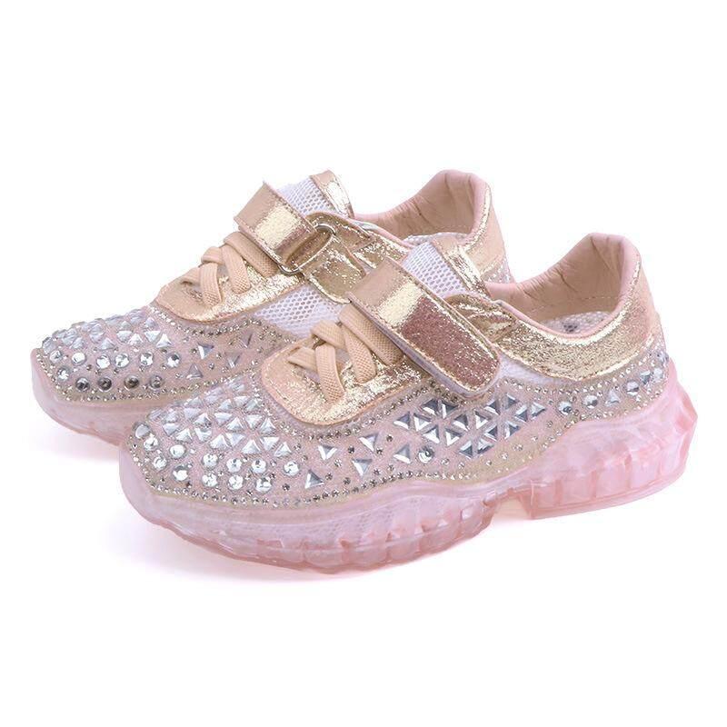Giá bán Trẻ em Bé Gái Giày Bling Ren Lưới Thể Thao Huấn Luyện Viên Giày