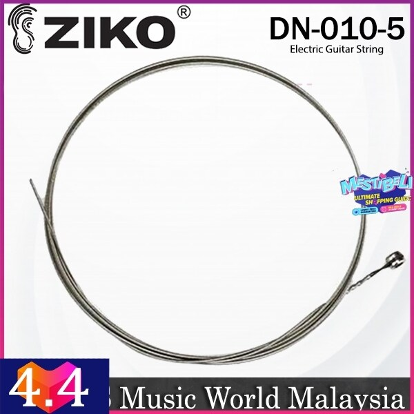 Ziko DN-010-5 Electric Guitar 5th Loose String Nickle Wound Extra Light Special Bright Malaysia