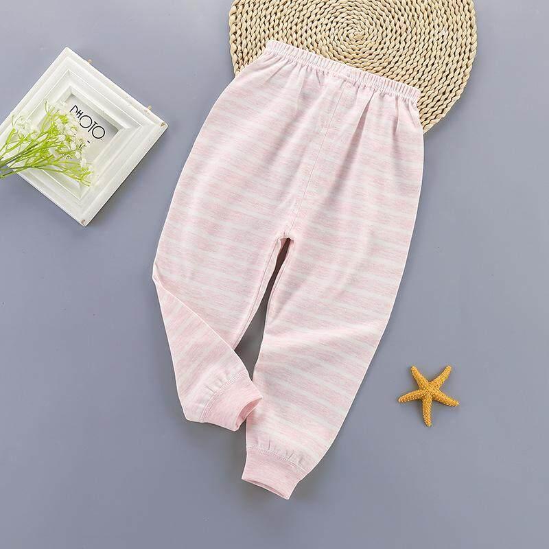 Giá bán Mùa Xuân, Mùa Thu Trẻ Em Quần Áo Cotton Thoải Mái Cho Bé Legging Pyjamas Dành Cho Trẻ Em Màu Ngẫu Nhiên 0-4 Tuổi