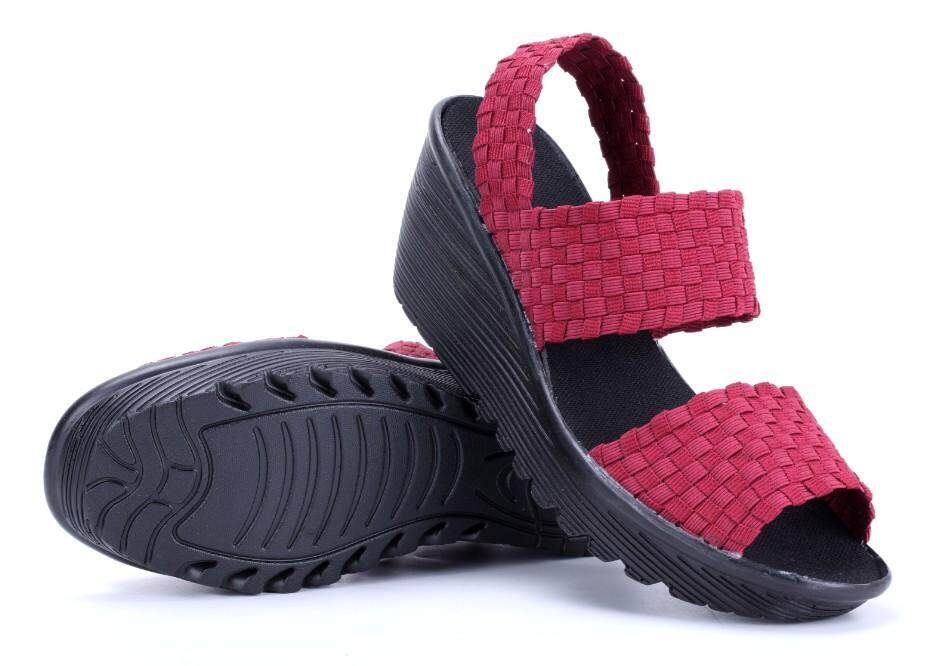Msia Ready Stock Handmade Woven Women Shoes Sandal Platform Shoes Casual Shoes By Vivilee Boutique.