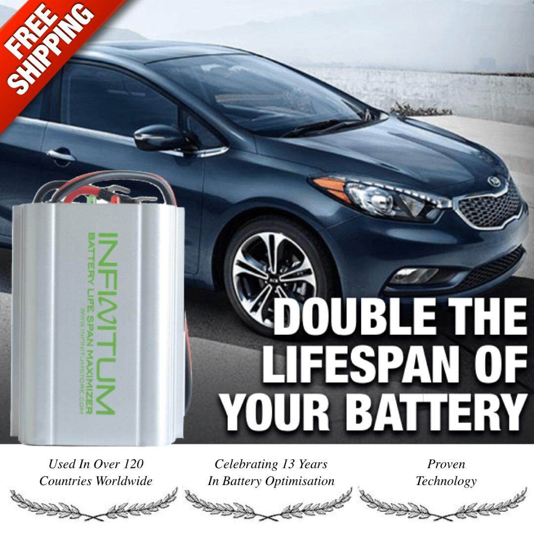 Infinitum 12v Car Battery Life Saver Desulfator Optimizer - Doubles Lifespan By My Global Mall.