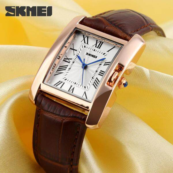 SKMEI Watch 1085 Luxury Fashion Casual Quartz Watches Leather Sport Lady Relojes Mujer Women Wristwatches Dress Girl 1085 Malaysia