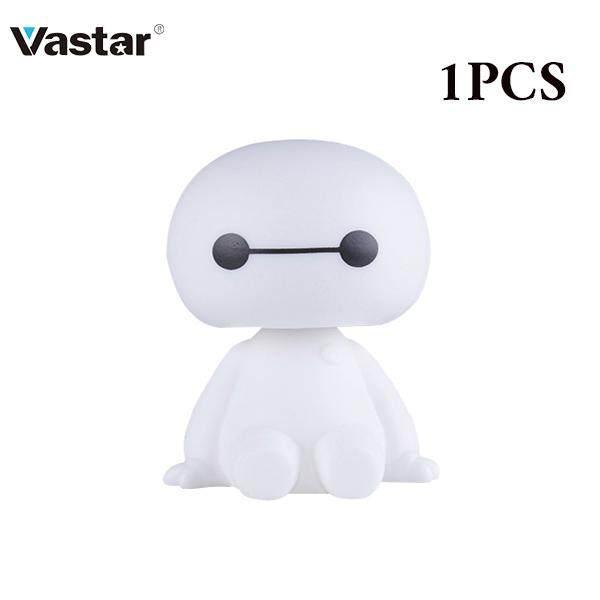 Cartoon Plastic Baymax Robot Shaking Head Figure Car Ornaments Auto Interior Decorations Big Hero Doll Toys Ornament Accessories Interior Accessories