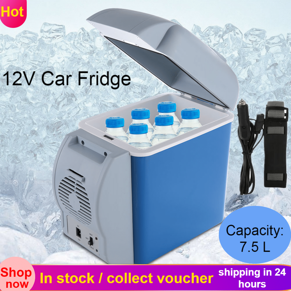 Compact Automotive Picnics Wine Camping,Travel Lightweight Drinks small-fridge Auto Accessories Cool box In Car Cooler Vehicle Portable Cool Box Camping Electrical 12V DC Food
