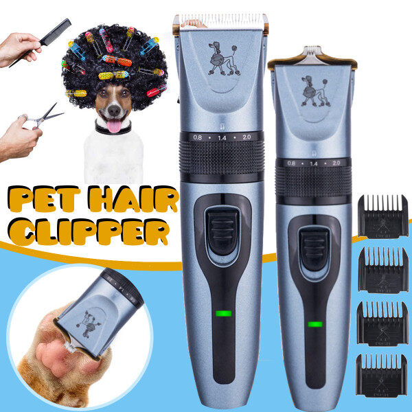 USB Rechargeable Pet Dog Cat Hair Clipper Hair Cutting Machine Paw Shaver Clipper Nail Hair Trimmer Grinder Grooming Tool Low Noise Low Virbration