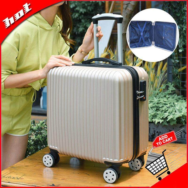 bcfac1f2a9b9 Johnn travel luggage bag suitcases 18 inch suitcase universal wheel female  mini trolley case password suitcase small boarding chassis male retro