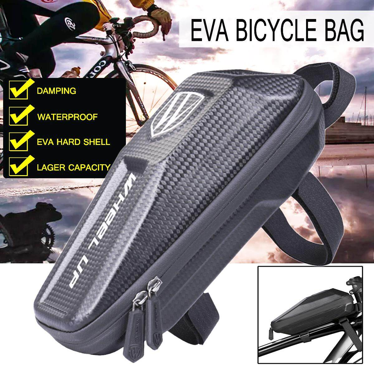 【free Shipping + Flash Deal】wheel Up Cycling Bike Bicycle Front Frame Hard Bag Pouch Phone Holder Case By Threegold.