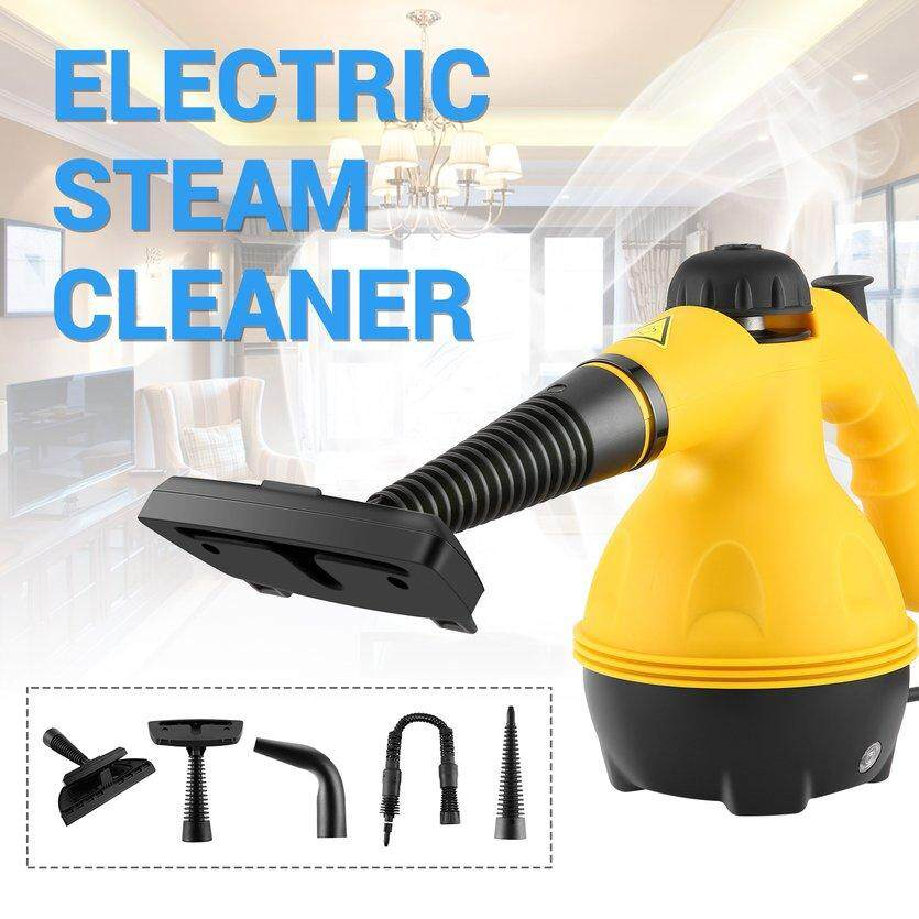 TOP Portable Electric Steam Cleaner Household Cleaner Tool yellow & black  EU plug
