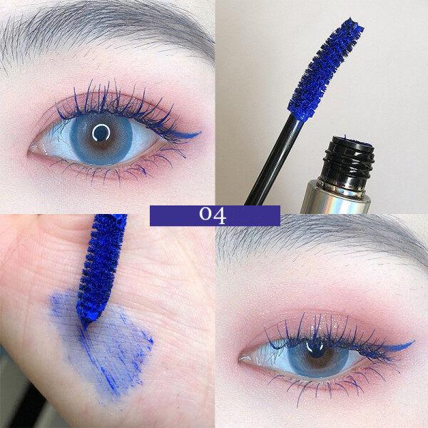 Maxfine 1 Cây Mascara 4d Đầy Màu Sắc Lông Mi Dài Tự Nhiên Chống Nhòe Màu Xanh Dương Nâu Tím Trắng Màu Đỏ Đỏ Mỹ Phẩm Trang Điểm Nữ Nhanh Khô giá rẻ