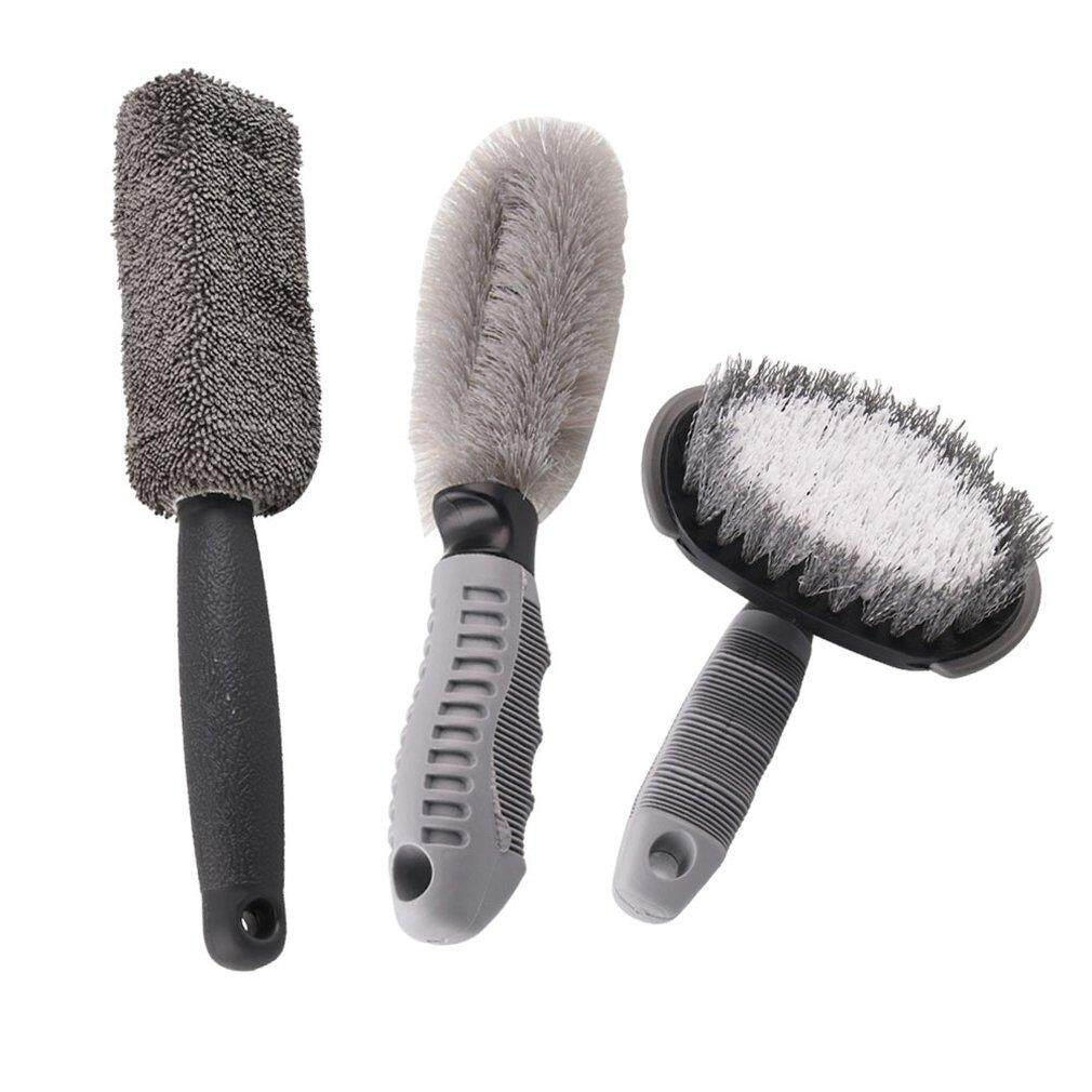 Allwin Car Beauty Tool Car Washing Tool Car Tire Brush Round Head Wheel Hub Brush Set