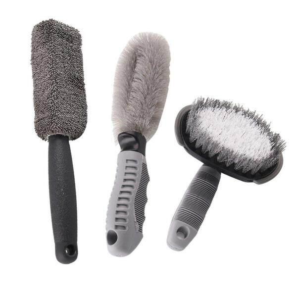 Allwin Car Beauty Tool Car Washing Tool Car Tire Brush Round Head Wheel Hub Brush Set