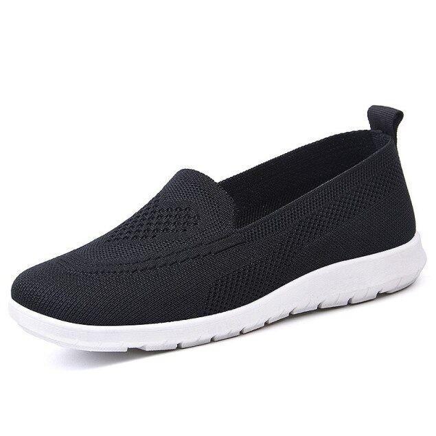 Giày Thể Thao Nữ Lưu Hóa Thông Thường Giày Sneaker Thoáng Khí 2020 Giày Lười Nữ Đế Mềm Có Lưới Giày Nữ Giày Tennis Nữ Đế Bằng Nhẹ giá rẻ