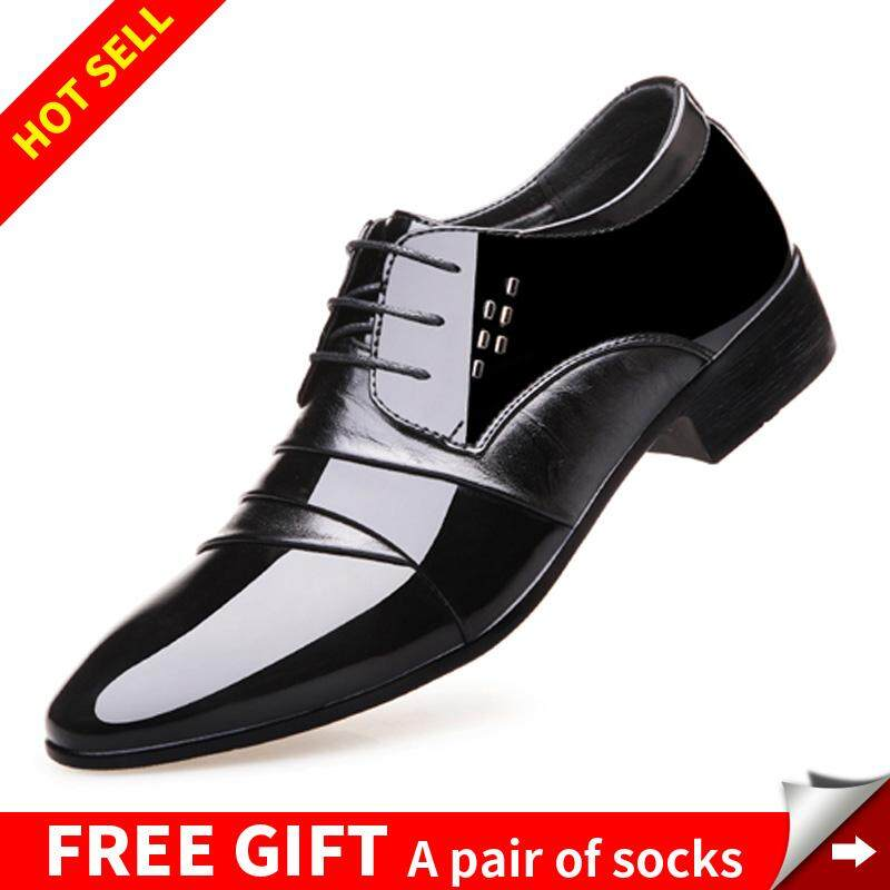 90eb929c817 Men Dress Shoes Pointed Toe Hard-Wearing Business Shoes For Male Fashion  Groom Wedding Shoes