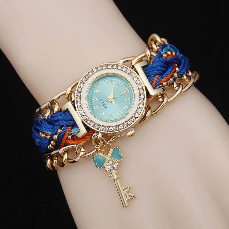 Fashion Women Handmade Braided Bracelet Watch Woven Wristwatch Crystal Quarzt Watches Jewelry Gifts Malaysia