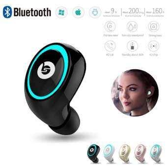 4.2 บลูทูธหูฟังเดี่ยวหูฟังไร้สายมินิเสียง HIFI หูฟังสเตอริโอหูฟังแบบ in-ear สำหรับโทรศัพท์ PC-