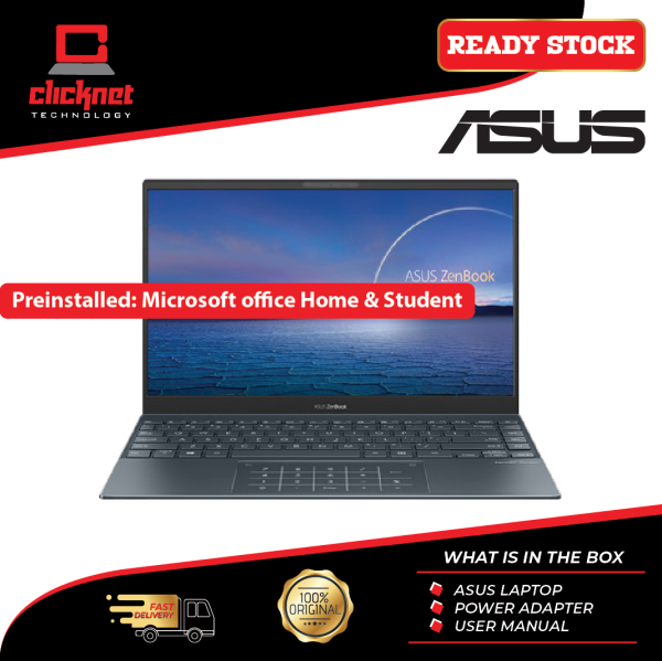 Asus ZenBook Laptop UX425J-AB688TS 14 (i5-1035G1, 8GB, 512GB, Intel, W10H, Office H&S) Malaysia