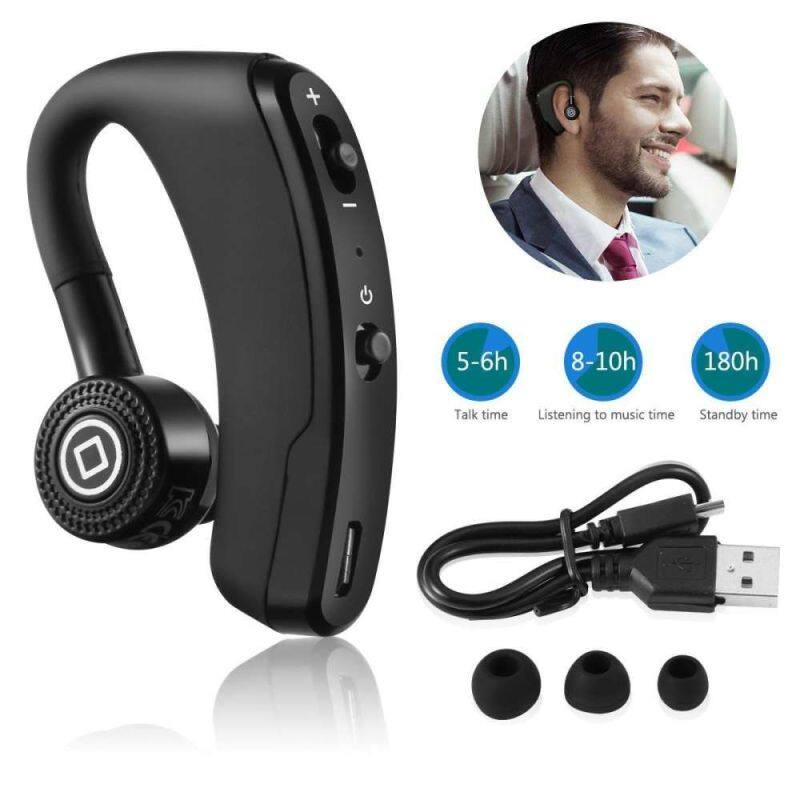 Niceeshop V12 business Bluetooth headset, rotatable in ear earbud wireless headphones voice prompts Singapore