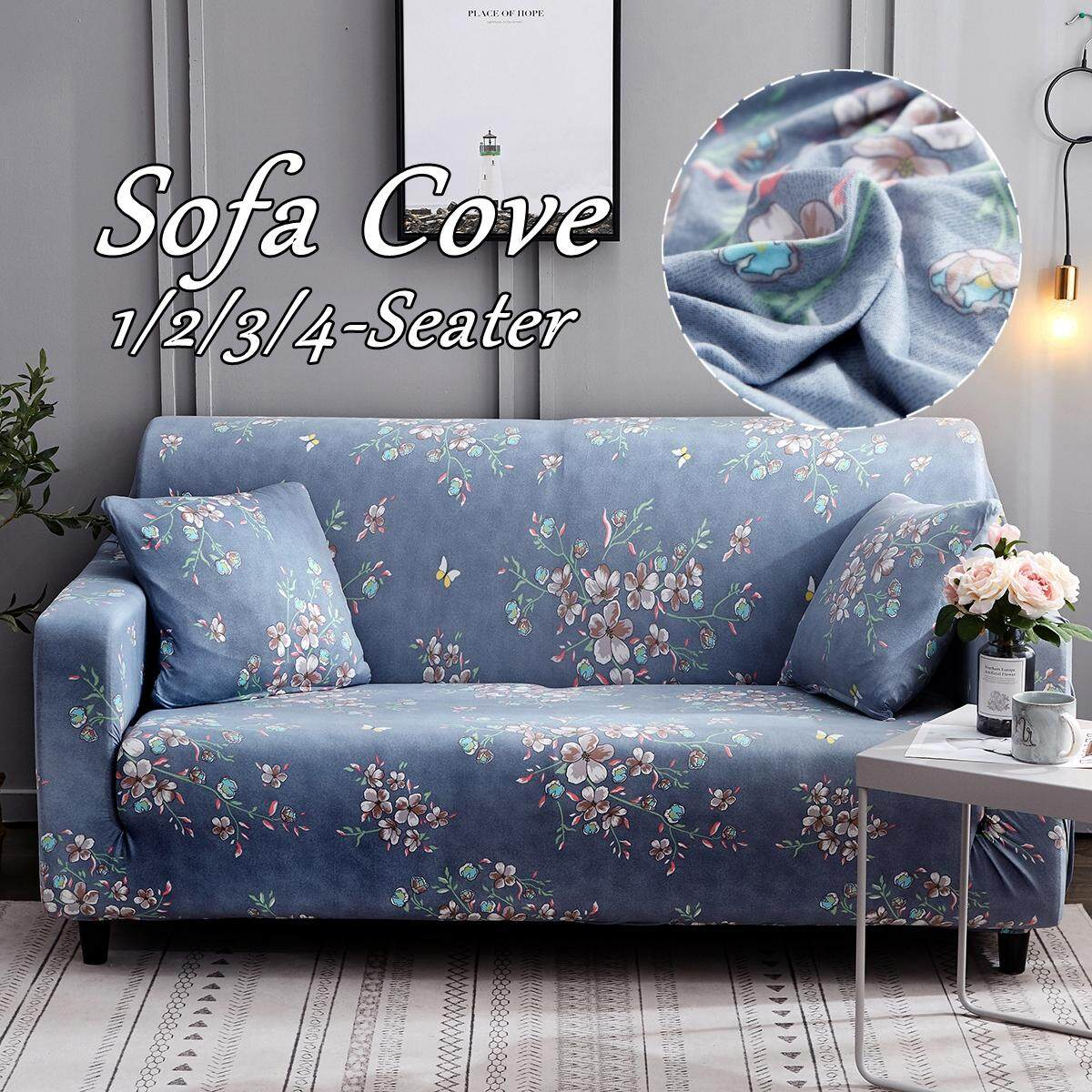 【Free Shipping + Flash Deal】1/2/3 Seater Home Soft Elastic Sofa Cover Easy Stretch Slipcover Protector Couch