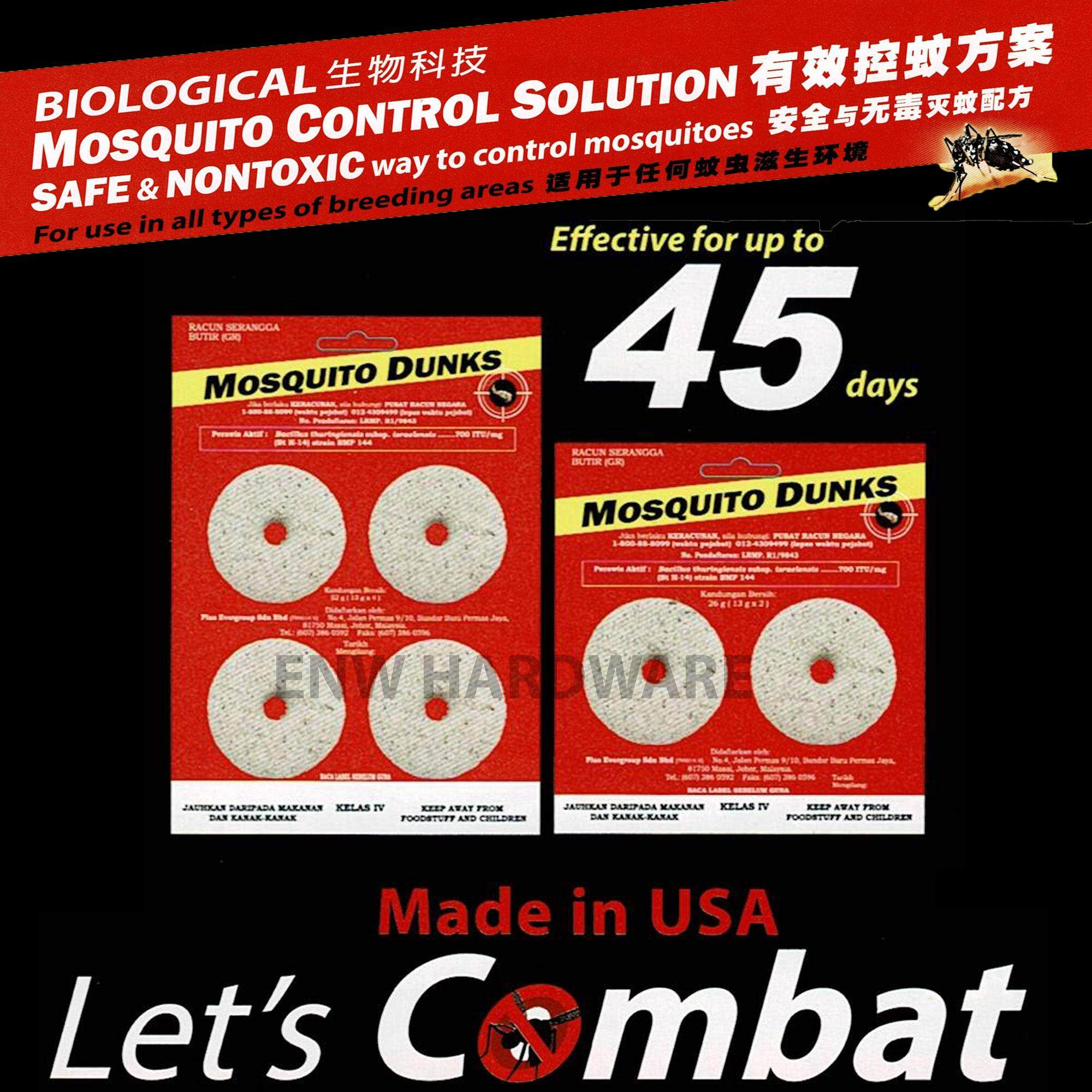 Non-Toxic Biological Mosquito Control Solution-Mosquito Dunks 4pcs