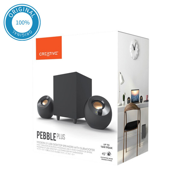 Creative Pebble Plus 2.1 USB-Powered 8W Desktop Speakers with Subwoofer and Far-Field Drivers Singapore