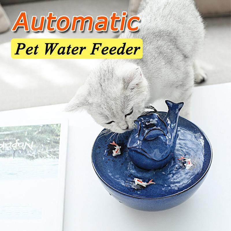 1000ml Ceramic Pet Dog Cat Supplies Water Dispenser Automatic Pet Water Feeder By Freebang.