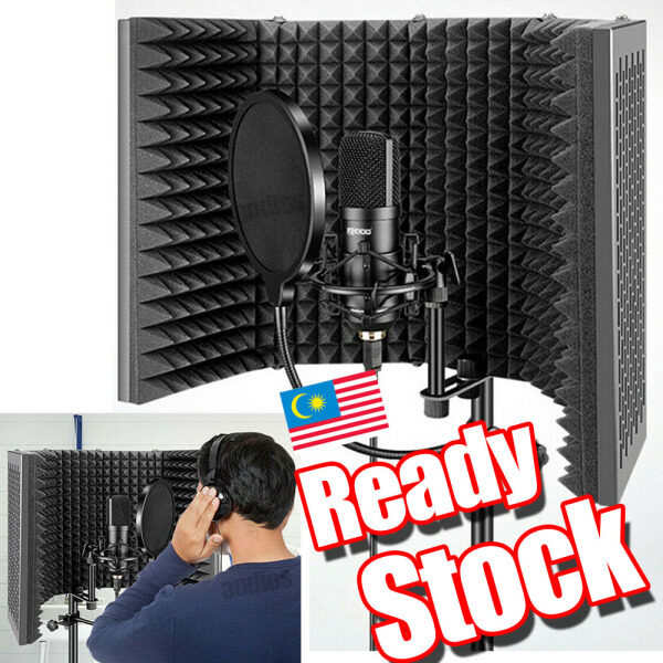 Isolation Shield 5 Panel Vocal Booth for Recording Sound Broadcast Microphone Kedap Bunyi Suara Voice Record Rekod Malaysia