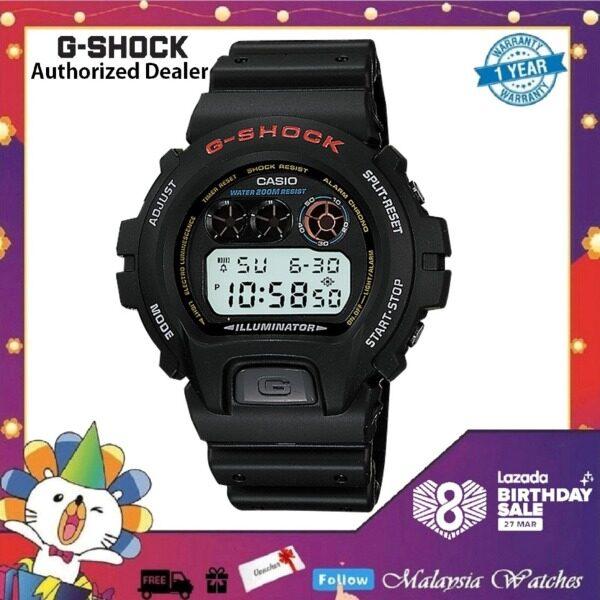 (OFFICIAL MALAYSIA WARRANTY) Casio G-Shock DW-6900-1V Black Resin LCD Standard Digital Watch (Black) Malaysia