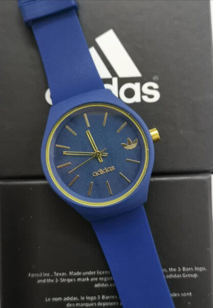 Fashion ADIDAS_Aalog Time Display Woman Fashion Rubber Watch with free Box Malaysia